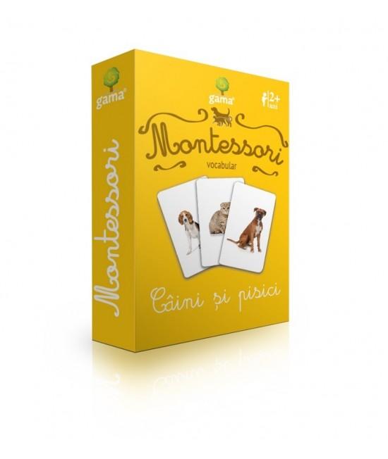 Câini și pisici - Cărți de joc bilingve Montessori