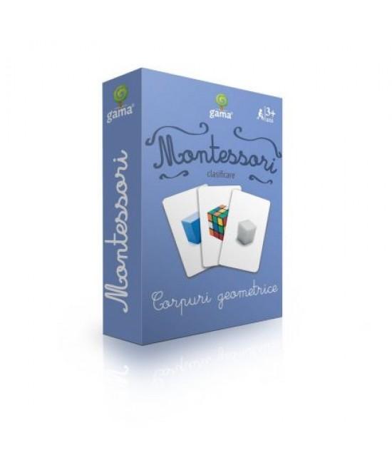Corpuri geometrice - Cărți de joc bilingve Montessori - Clasificare