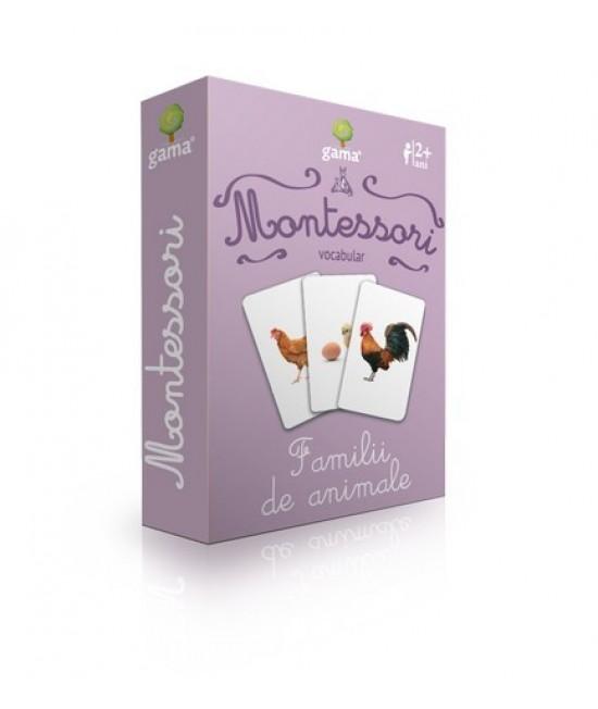Familii de animale - Cărți de joc bilingve Montessori - Vocabular