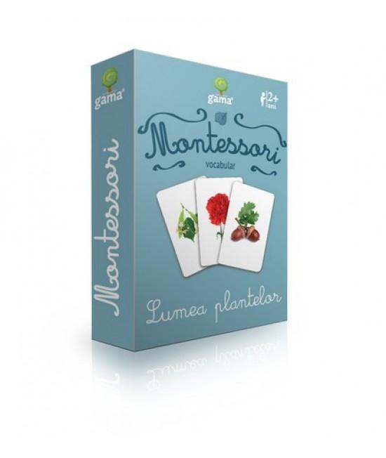 Lumea plantelor - Cărți de joc bilingve Montessori - Vocabular