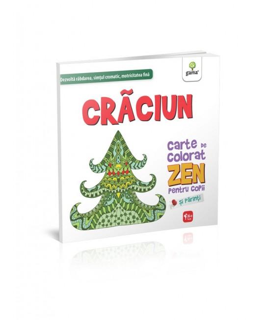 Crăciun - Carte de colorat Zen pentru copii și părinți