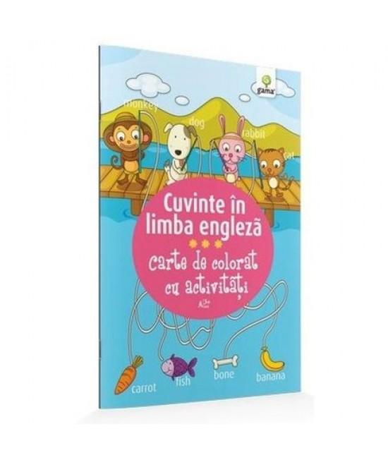 Cuvinte în limba engleză - Carte de colorat cu activităţi