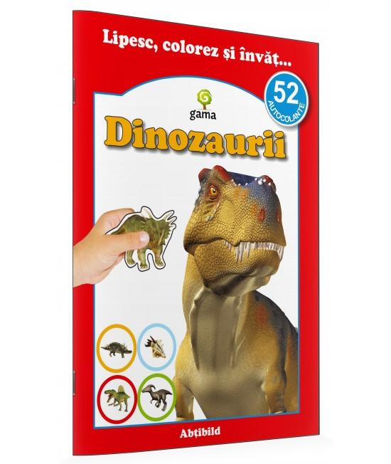 Dinozaurii - Lipesc, colorez și învăț cu 52 autocolante
