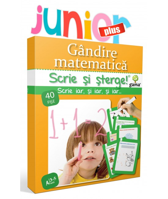 Gândire matematică • 3-5 ani - Scrie și șterge - Junior Plus