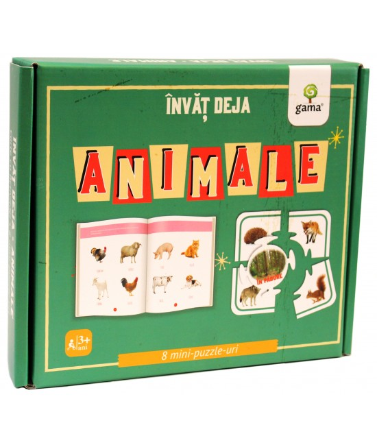 Învăț deja animale - carte + 8 mini-puzzle-uri