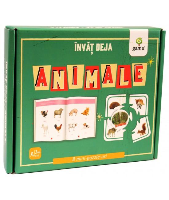 Învăț deja animale - carte + 8 mini-puzzle-uri