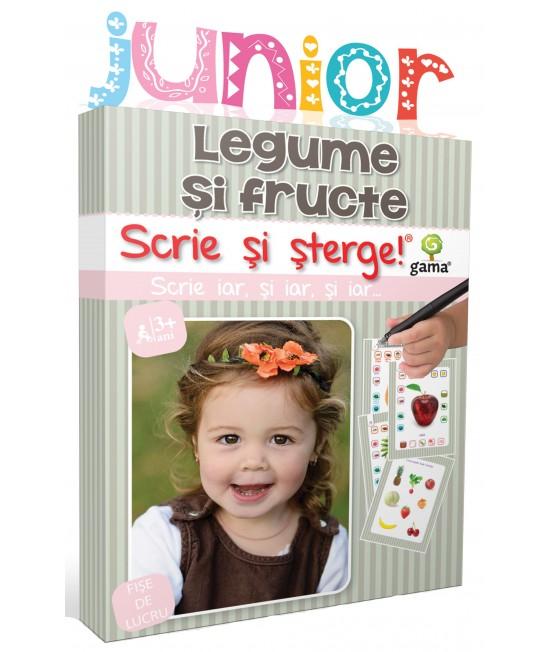 Legume și fructe - Scrie și șterge - Junior