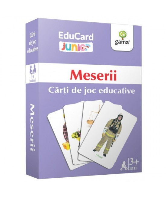 Meserii - Cărți de joc educative - EduCard Junior