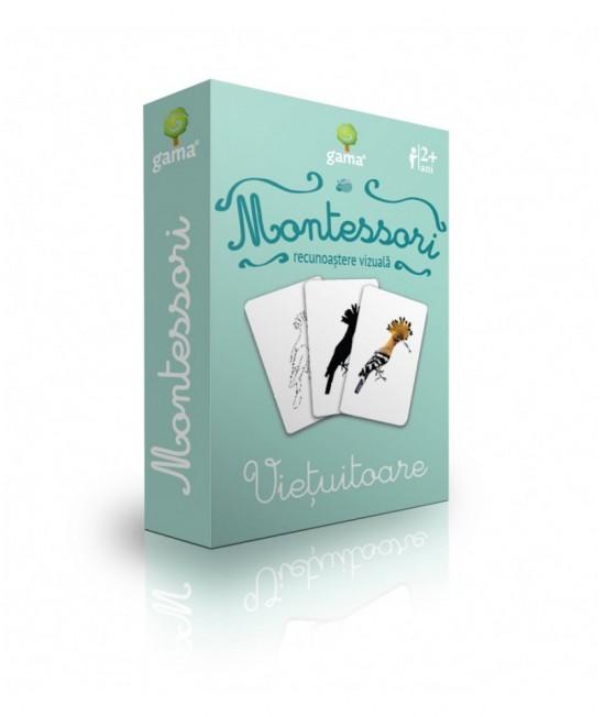 Viețuitoare - Cărți de joc bilingve Montessori - Recunoaștere vizuală