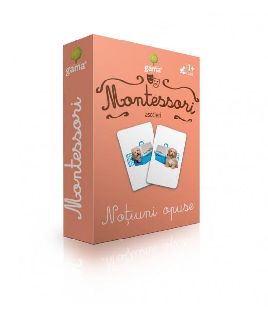 Noțiuni opuse - Cărți de joc bilingve Montessori - Asocieri