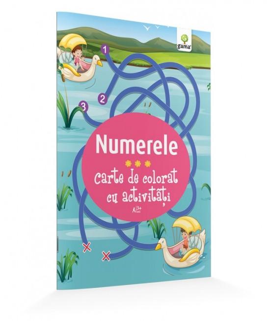 Numerele - Carte de colorat cu activităţi