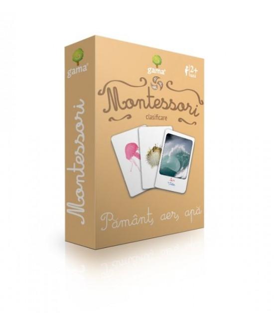 Pământ, aer, apă - Cărți de joc bilingve Montessori - Clasificare