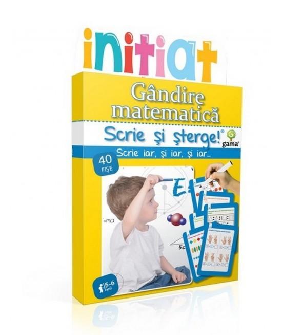 Gândire matematică • 5-6 ani - Scrie și șterge - Inițiat