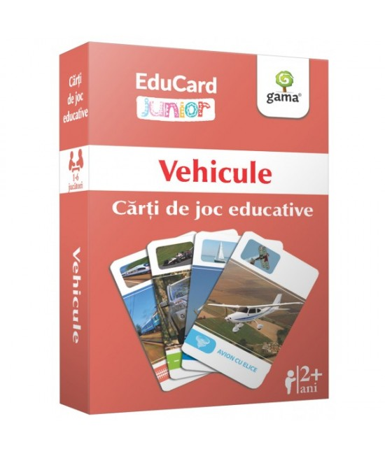Vehicule - Cărți de joc educative - EduCard Junior
