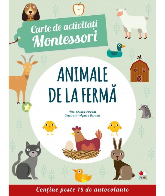 Carte de activități Montessori. Animale de la fermă