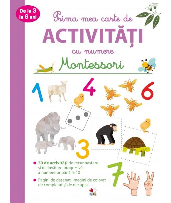 Prima mea carte de activități cu numere Montessori - de la 3 la 6 ani