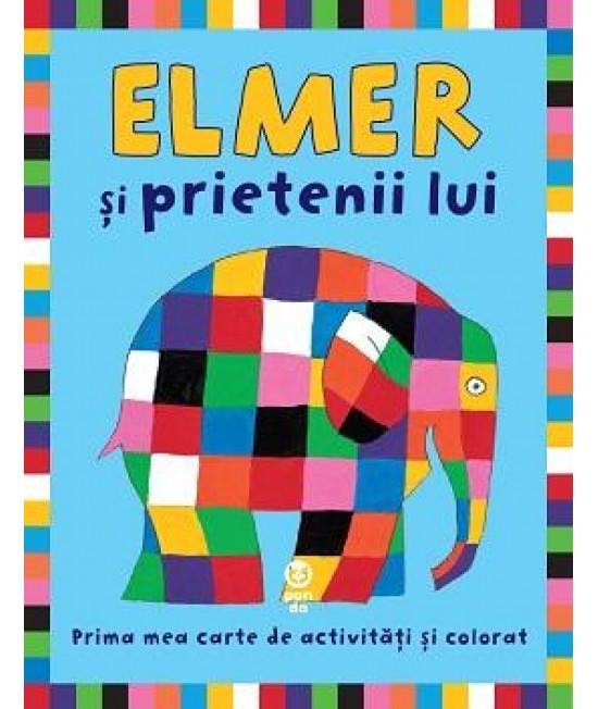 Elmer şi prietenii lui - Prima mea carte de activități și colorat - David McKee