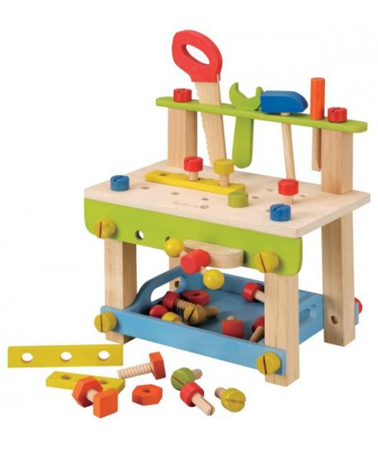 Banc de lucru cu unelte din lemn EverEarth pentru copii