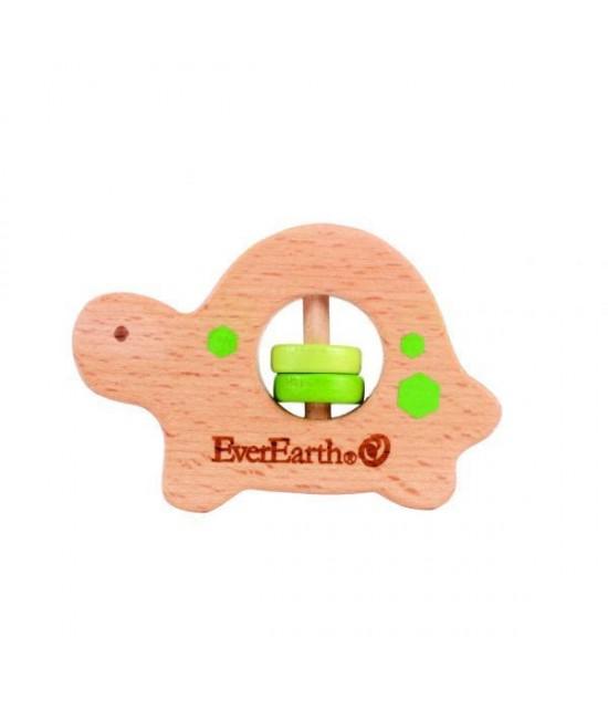 Jucărie din lemn pentru bebeluși - Broască țestoasă EverEarth
