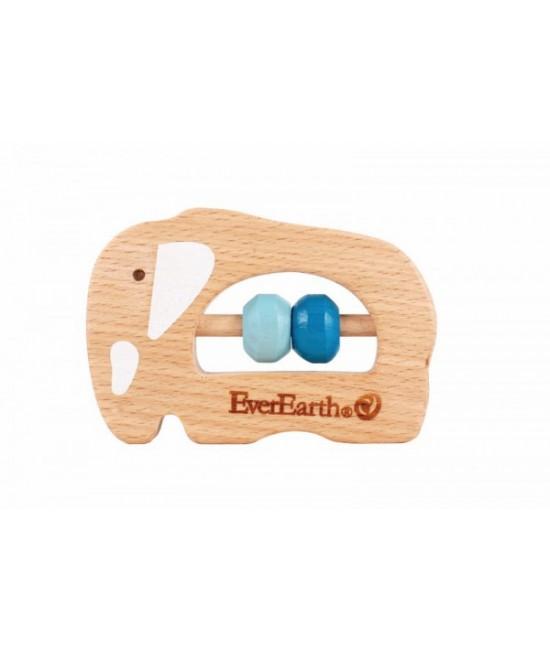 Jucărie din lemn pentru bebeluși - Elefant EverEarth