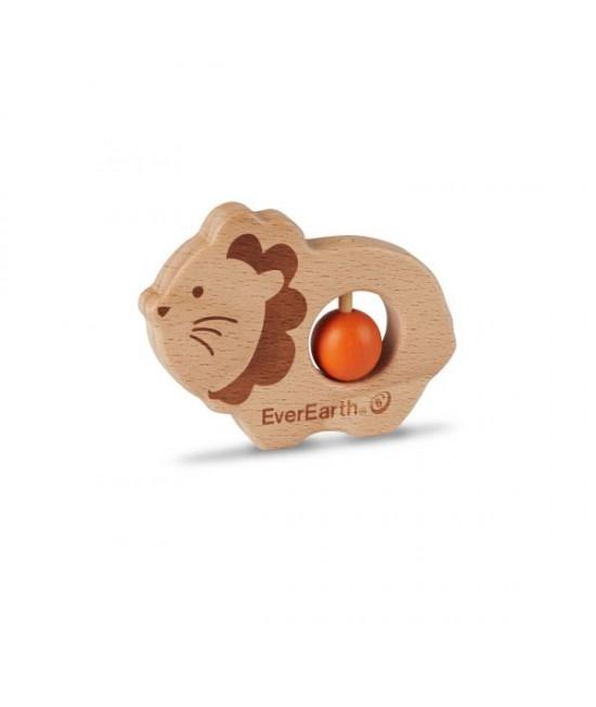 Jucărie din lemn pentru bebeluși - Leu EverEarth