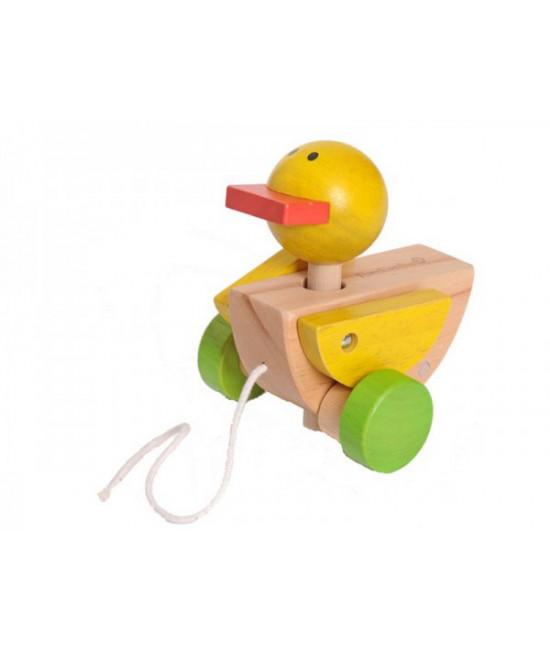 Rățușcă de lemn - jucărie de tras EverEarth