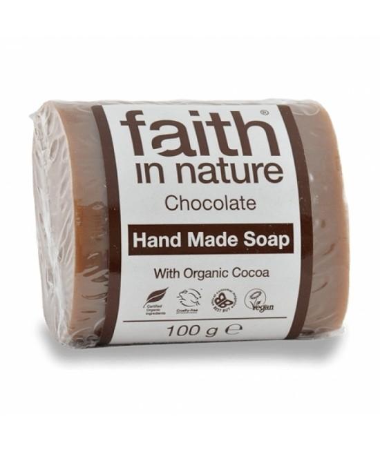 Săpun natural cu ciocolată BIO Faith in Nature handmade (fabricat manual)