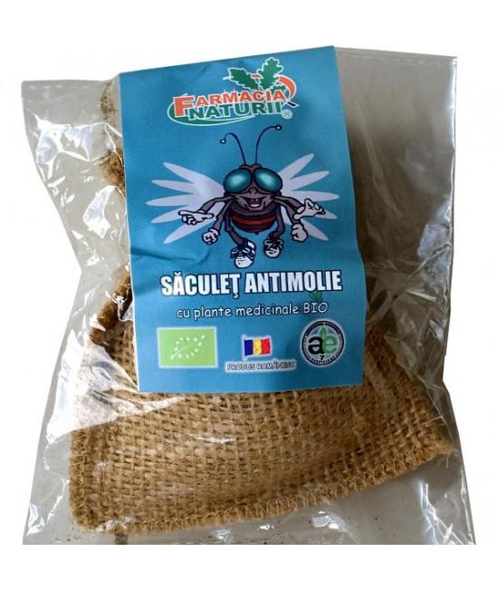 Săculeț anti-molii cu plante medicinale ecologice și uleiuri esențiale Farmacia Naturii