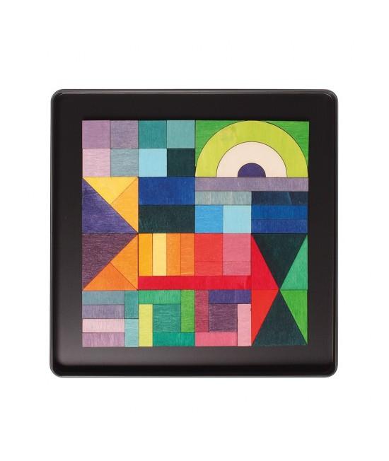 Geo-graphical - Puzzle magnetic creativ Grimm's Spiel und Holz Design