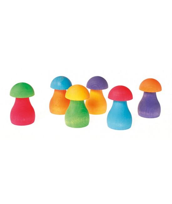 Set ciupercuțe curcubeu Grimms