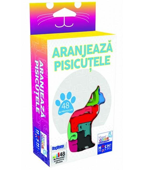 Aranjează pisicuțele - Cat Stax - joc puzzle logic Huch and friends