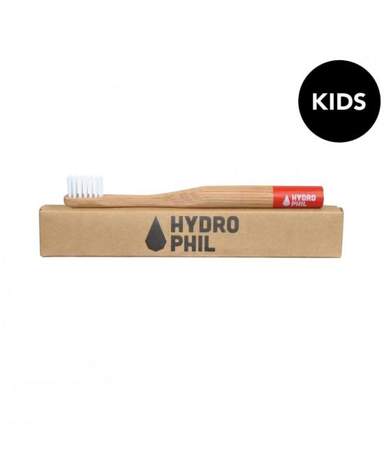 Periuță de dinți extra-soft din bambus pentru copii - Hydrophil roșie