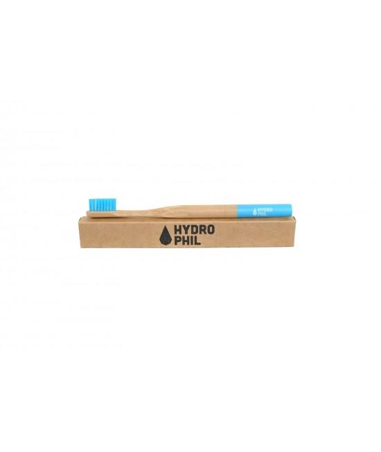 Periuță de dinți medium-soft din bambus pentru copii mari și adulți - Hydrophil albastră