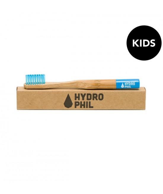Periuță de dinți extra-soft din bambus pentru copii - Hydrophil albastră