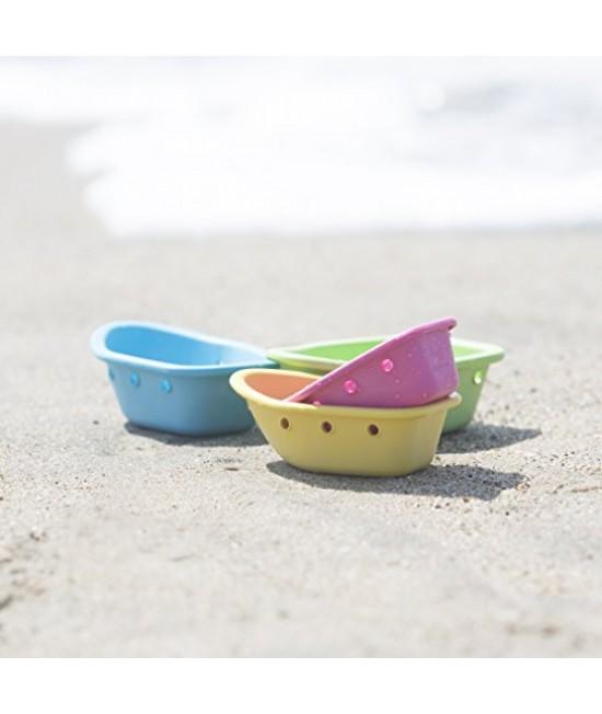 Bărcuțe din plastic ECO iPlay Green Sprouts pentru plajă sau joaca în apă