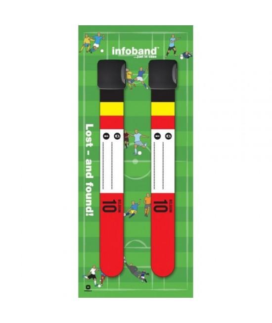Set de 2 brățări refolosibile de identificare pentru copii - Infoband Belgia - Campionatul Mondial de Fotbal 2018