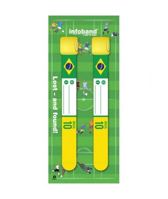 Set de 2 brățări refolosibile de identificare pentru copii - Infoband Brazilia - Campionatul Mondial de Fotbal 2018
