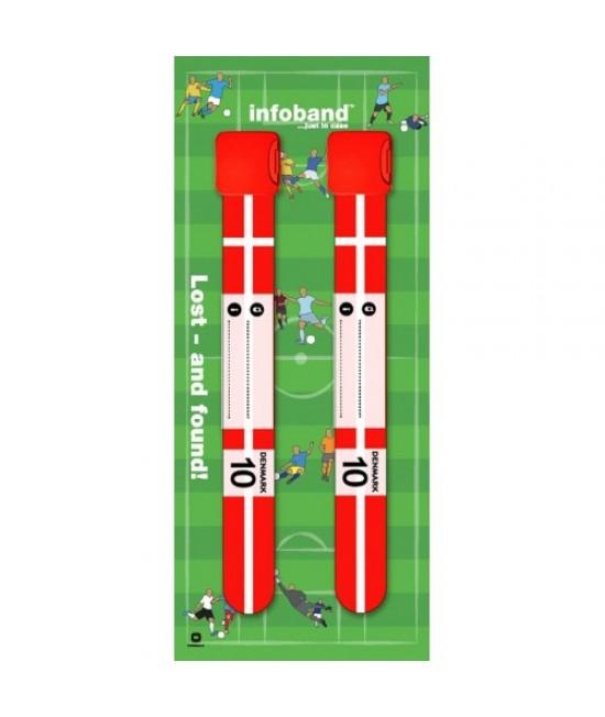 Set de 2 brățări refolosibile de identificare pentru copii - Infoband Danemarca - Campionatul Mondial de Fotbal 2018