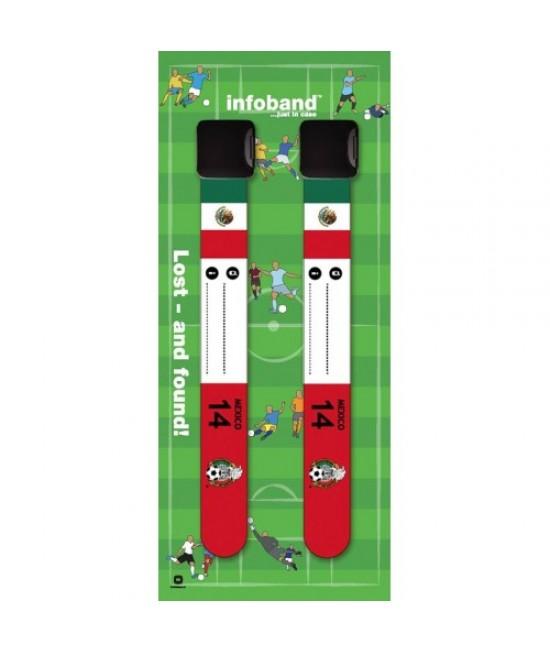Set de 2 brățări refolosibile de identificare pentru copii - Infoband Mexic - Campionatul Mondial de Fotbal 2018