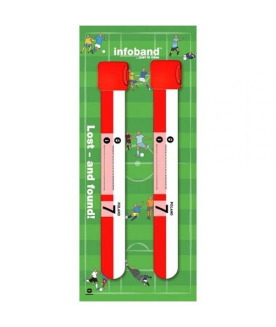 Set de 2 brățări refolosibile de identificare pentru copii - Infoband Polonia - Campionatul Mondial de Fotbal 2018