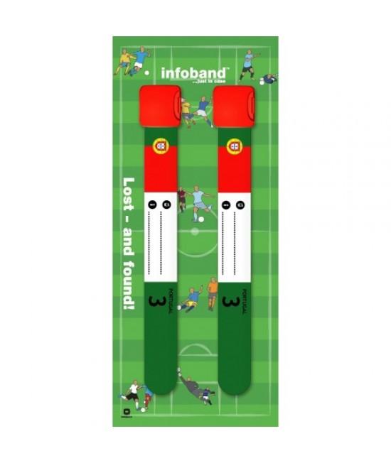 Set de 2 brățări refolosibile de identificare pentru copii - Infoband Portugalia - Campionatul Mondial de Fotbal 2018