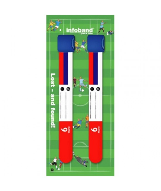 Set de 2 brățări refolosibile de identificare pentru copii - Infoband Rusia - Campionatul Mondial de Fotbal 2018