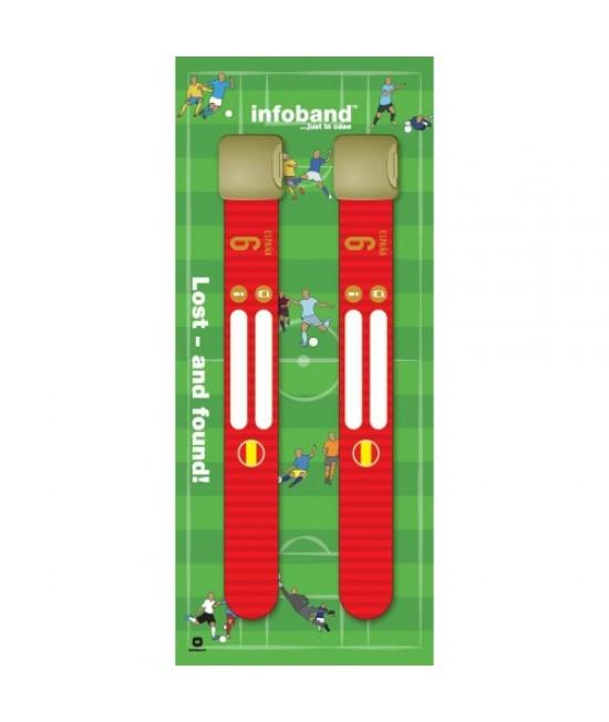 Set de 2 brățări refolosibile de identificare pentru copii - Infoband Spania - Campionatul Mondial de Fotbal 2018