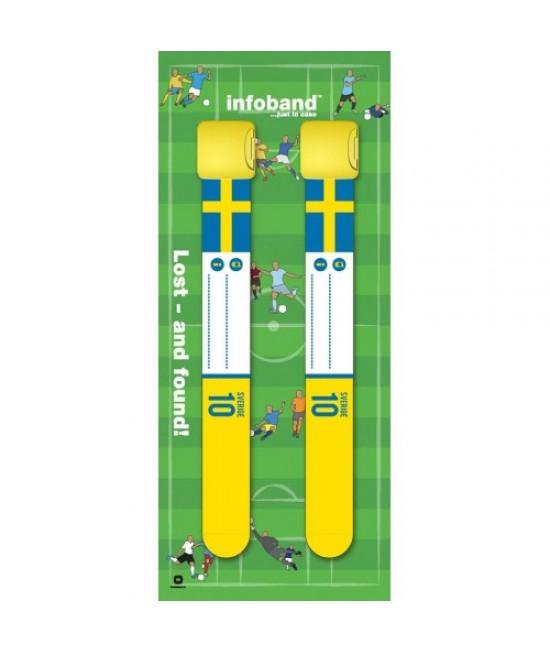 Set de 2 brățări refolosibile de identificare pentru copii - Infoband Suedia - Campionatul Mondial de Fotbal 2018