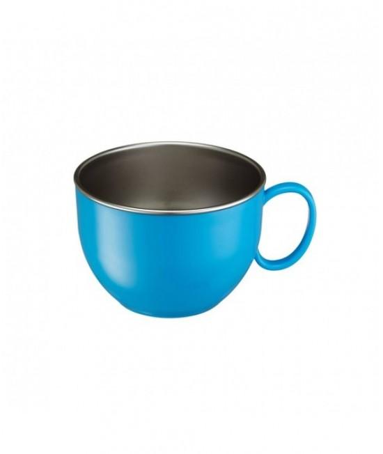 Bol mare din inox de învățare Innobaby albastru - ușor de ținut în mână - cu un mâner - Din Din Smart Dinner Bowl