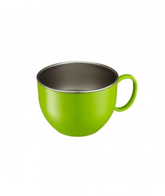 Bol mare din inox de învățare Innobaby verde - ușor de ținut în mână - cu un mâner - Din Din Smart Dinner Bowl