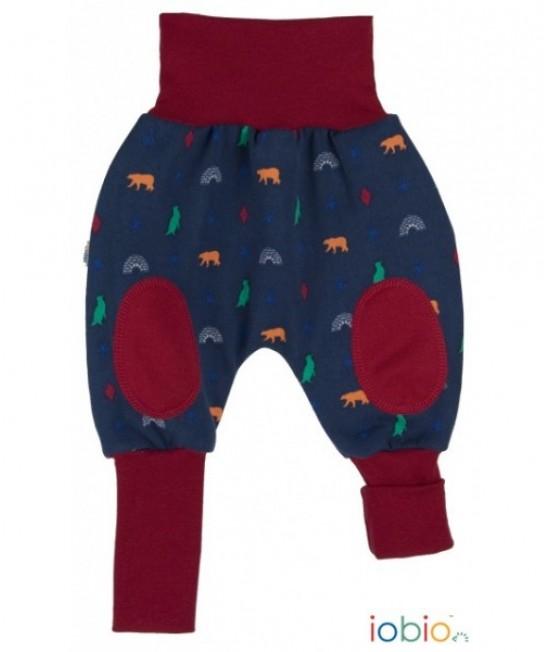 Pantaloni tip șalvari iobio din bumbac organic - Joga Cassis
