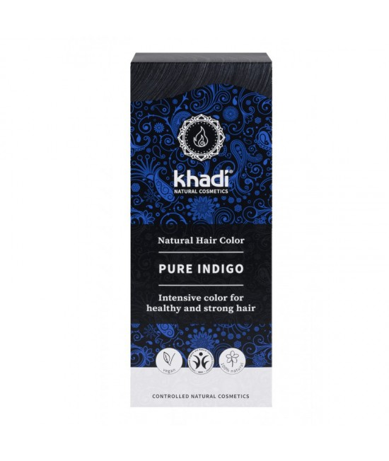 Vopsea de păr naturală Indigo Khadi