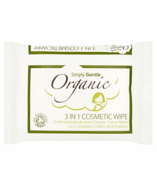 Șervețele demachiante din bumbac organic 3 în 1 cu aloe vera - Macdonald and Taylor - Simply Gentle Organic