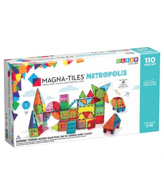 Set Magna-Tiles Metropolis - 110 piese magnetice de construcție